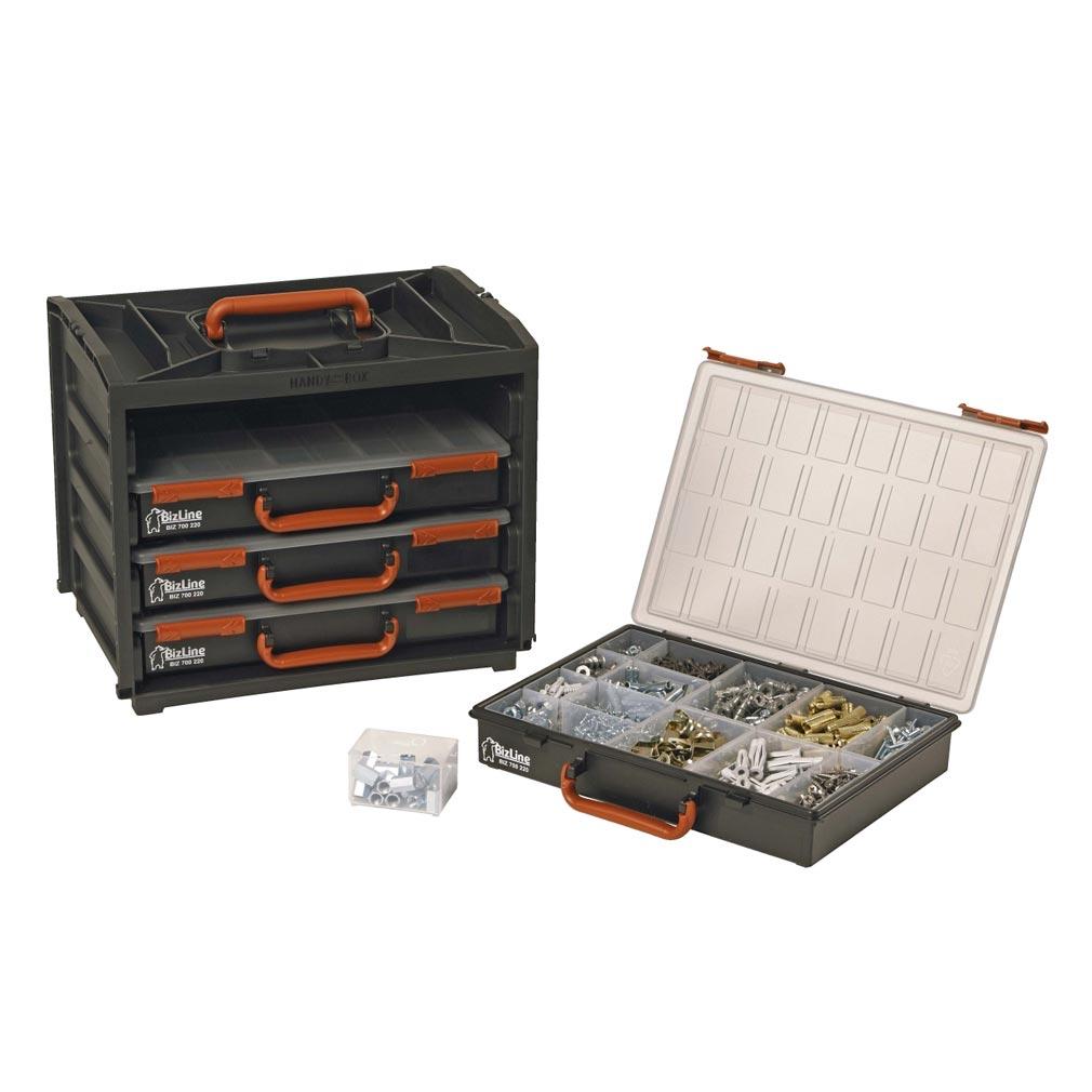 Bizline - BIZ700220 -  Boîte de rangement 4 mallettes 376 x 265 x 310 mm