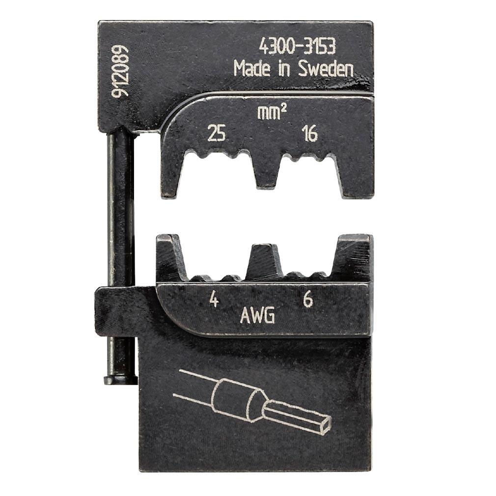 Bizline - BIZ700262 -  Matrice de sertissage pour embouts de câblage isolés et non isolés 16-25 mm²