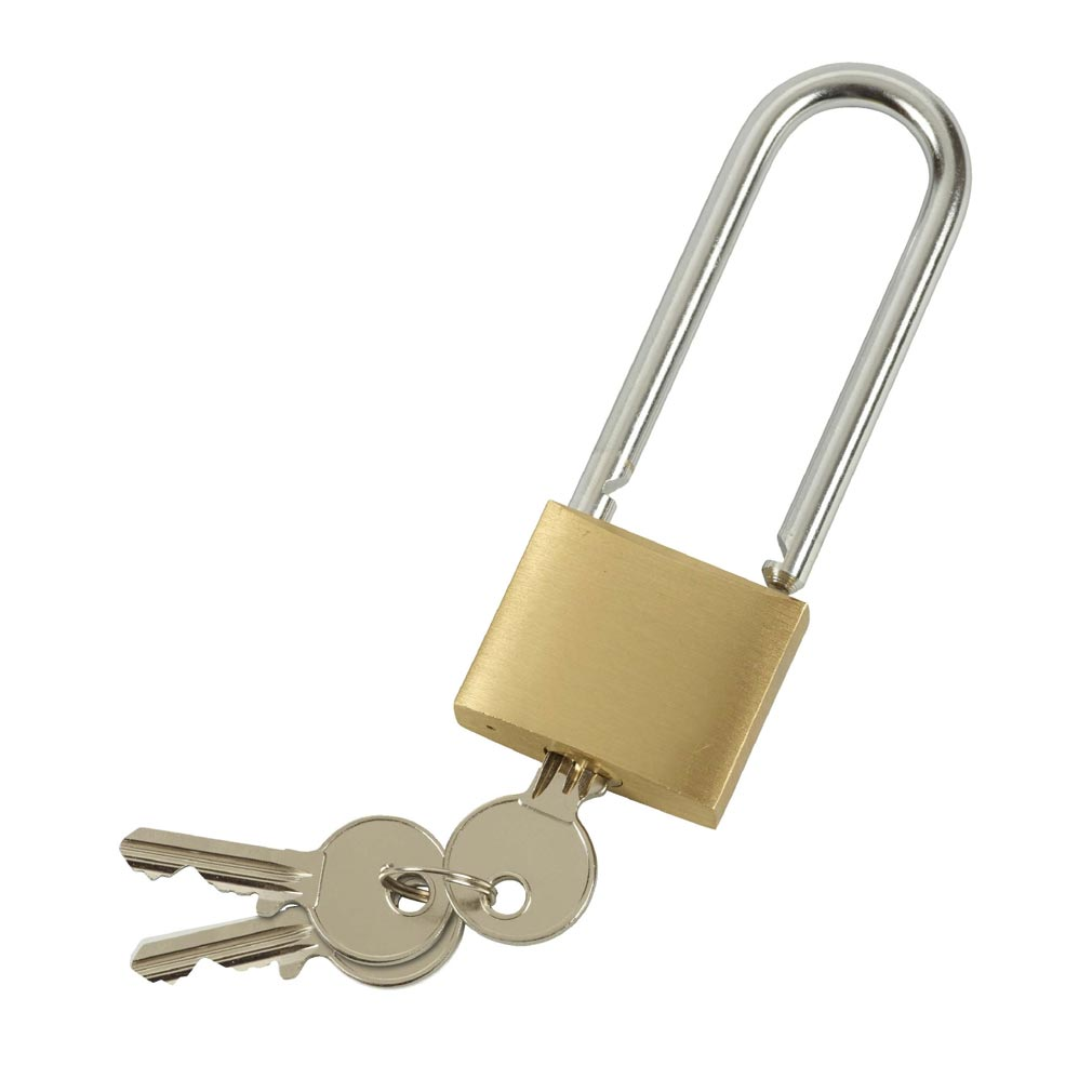 Bizline - BIZ700453 -  Cadenas laiton à clé anse haute 40 mm