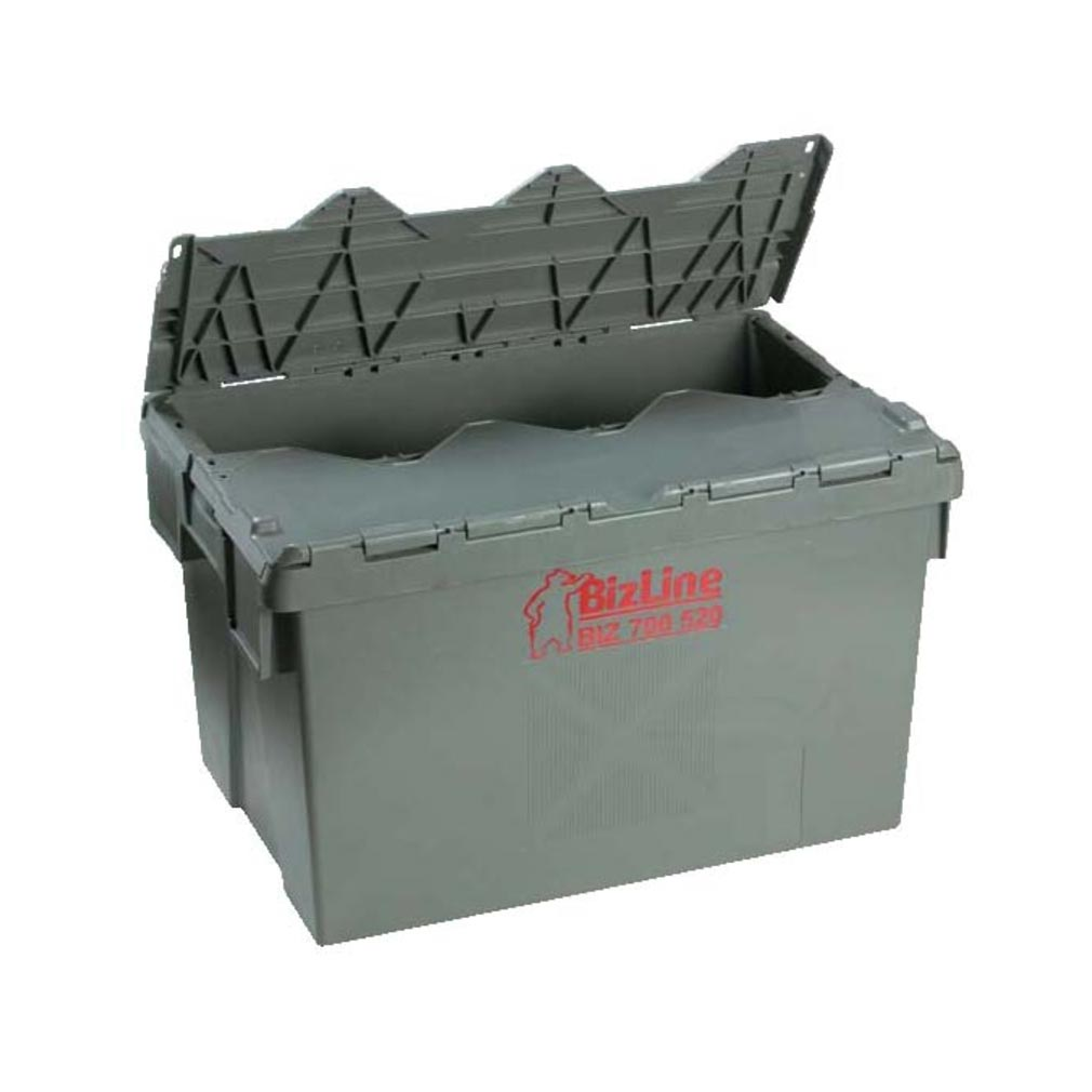 Bizline - BIZ700520 -  Bac de rangement à couvercle intégré 600 x 400 x 365 mm