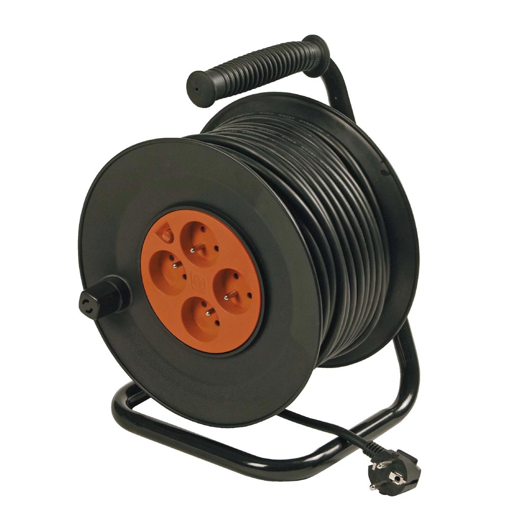 Bizline - BIZ700972 -  Enrouleur standard câble H05VV-F 3G1.5 mm² 25 m