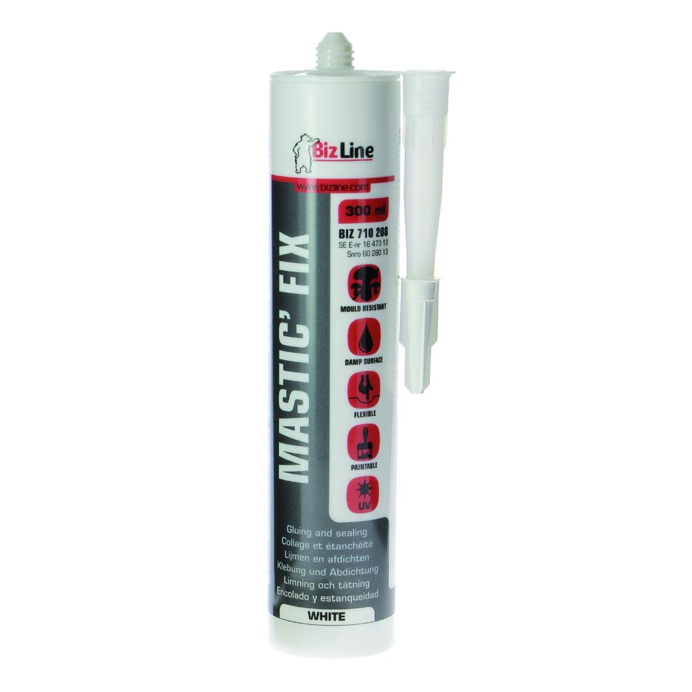 Bizline - BIZ710208 -  Mastic-colle MS polymère 300 ml blanc