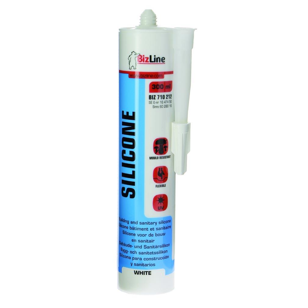 Bizline - BIZ710212 -  Mastic silicone 300 ml blanc