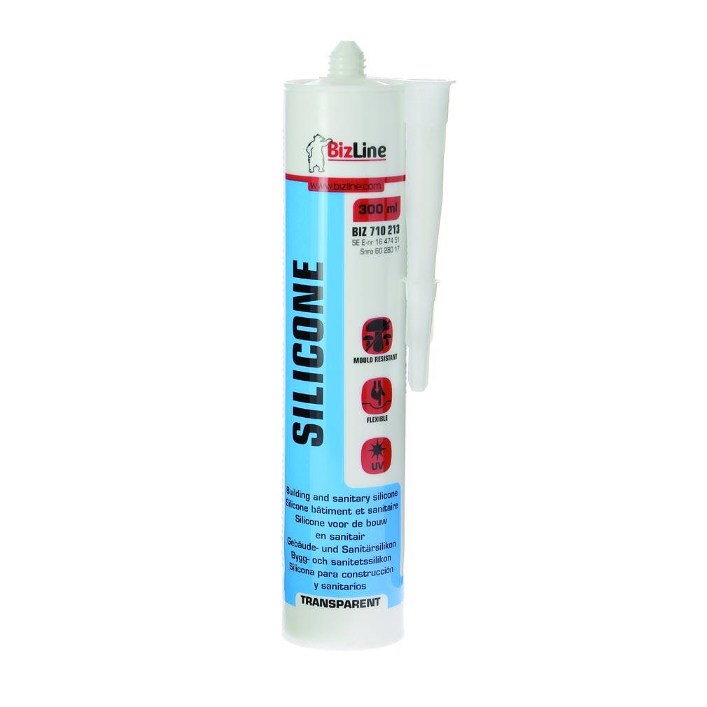 Bizline - BIZ710213 -  Mastic silicone 300 ml transparent