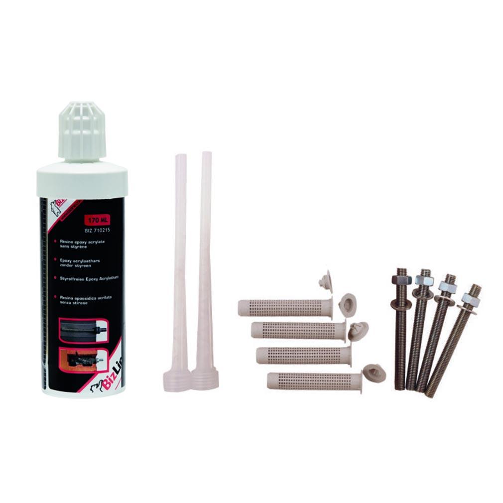 Bizline - BIZ710216 -  Kit de scellement chimique 170 ml