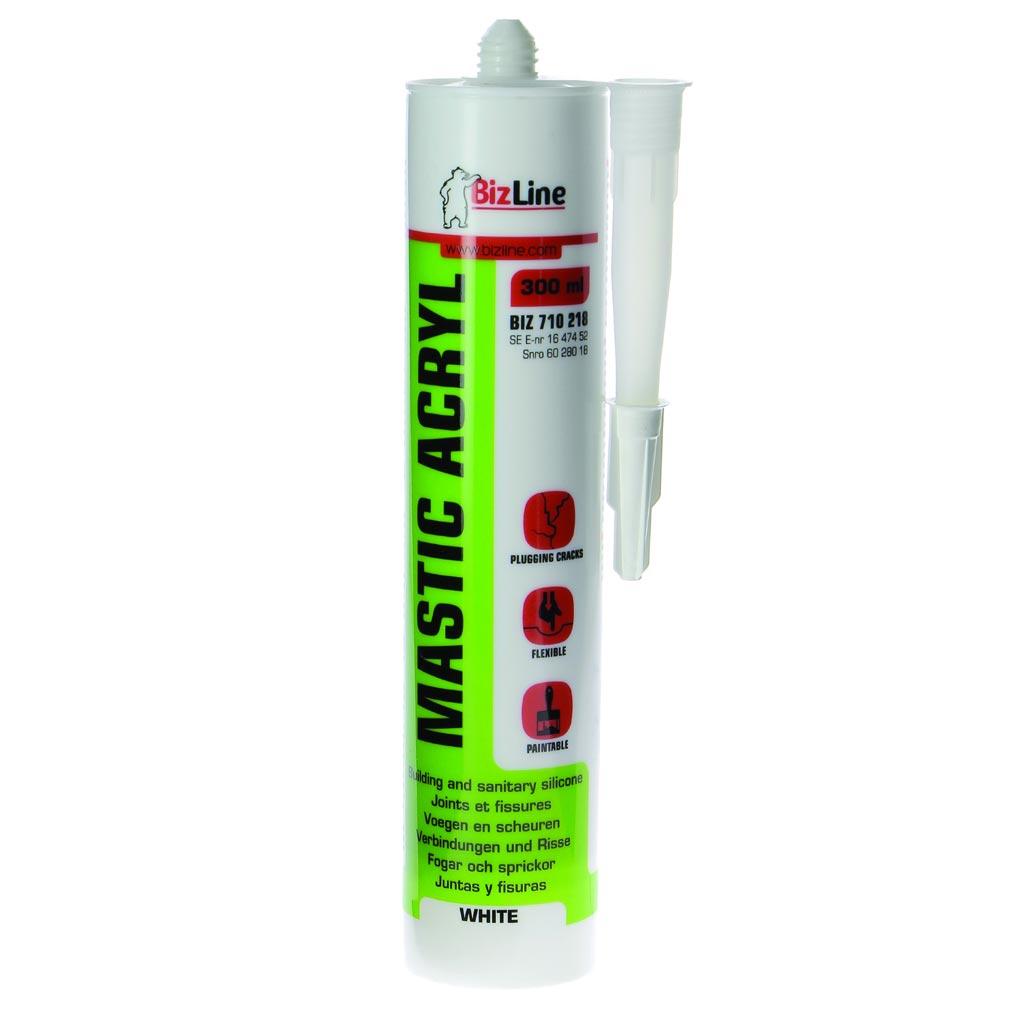 Bizline - BIZ710218 -  Mastic acrylique 300 ml blanc