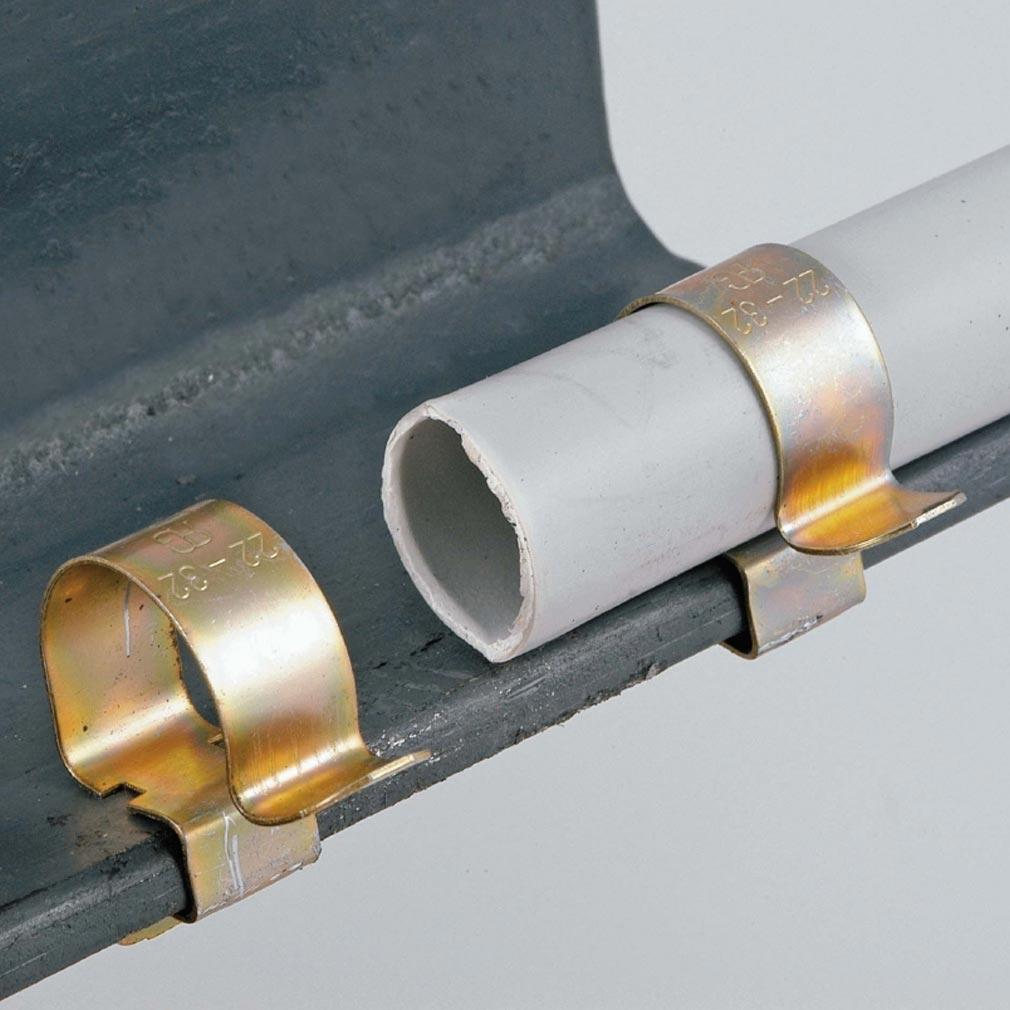 Bizline - BIZ710267 -  Clip bord de tôle épaisseur 8-12 mm Ø câble 22-32 mm (x 100)