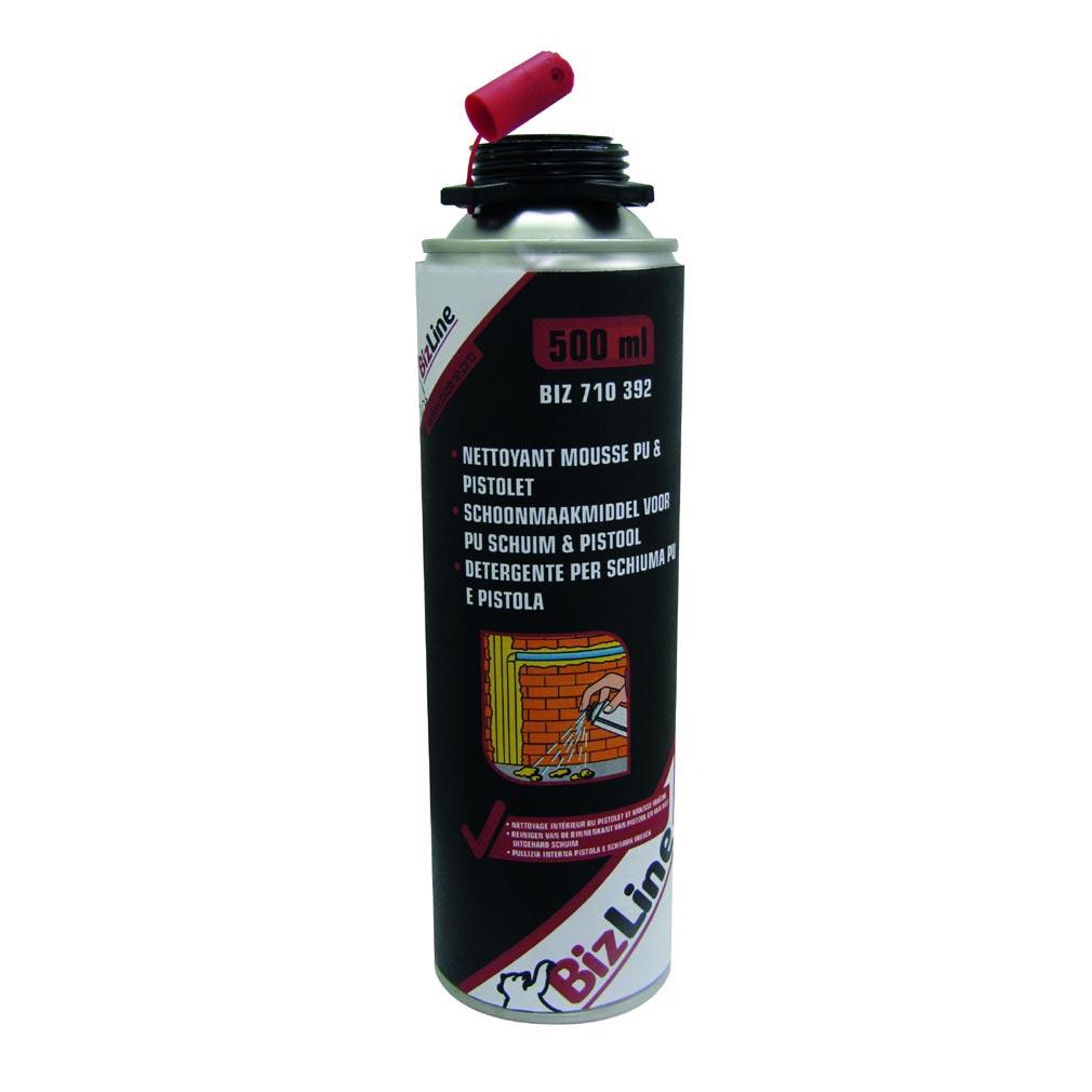 Bizline - BIZ710392 -  Nettoyant pour mousses PU et pistolet 500 ml incolore