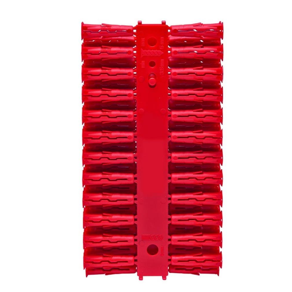 Bizline - BIZ710651 -  Cheville universelle UNIK 6 x 28 mm rouge Ø vis 3.5-5 mm (x 96)