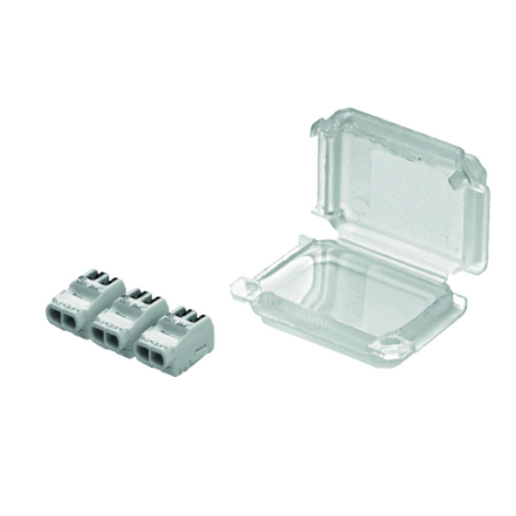 Bizline - BIZ711403 - Kit SQUALE'Box S6 pour connexion étanche avec 3 bornes à languettes 2 entrées et pour câble de section 0.2 à 2.5 mm² (x 10)