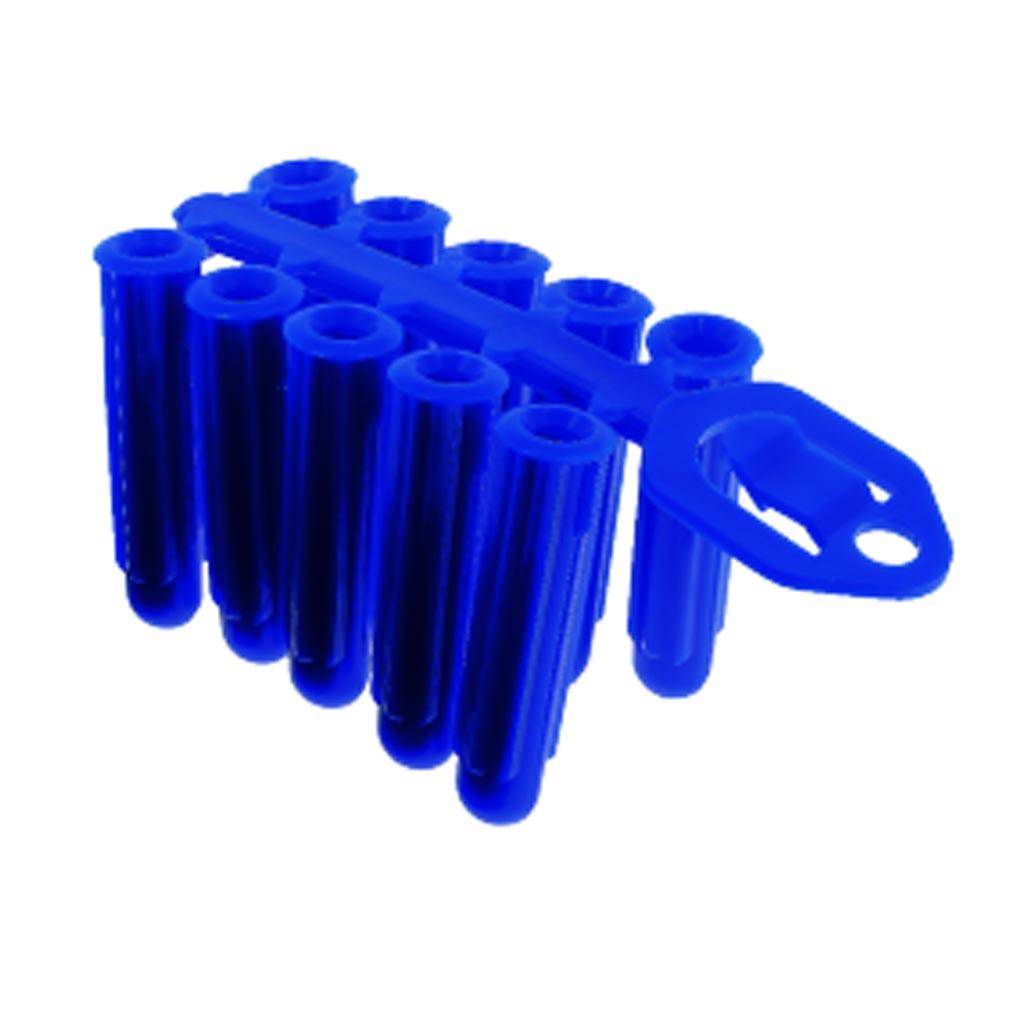 Bizline - BIZ720112 -  Cheville universelle en grappe D= vis 5-9 mm bleue (x 80)