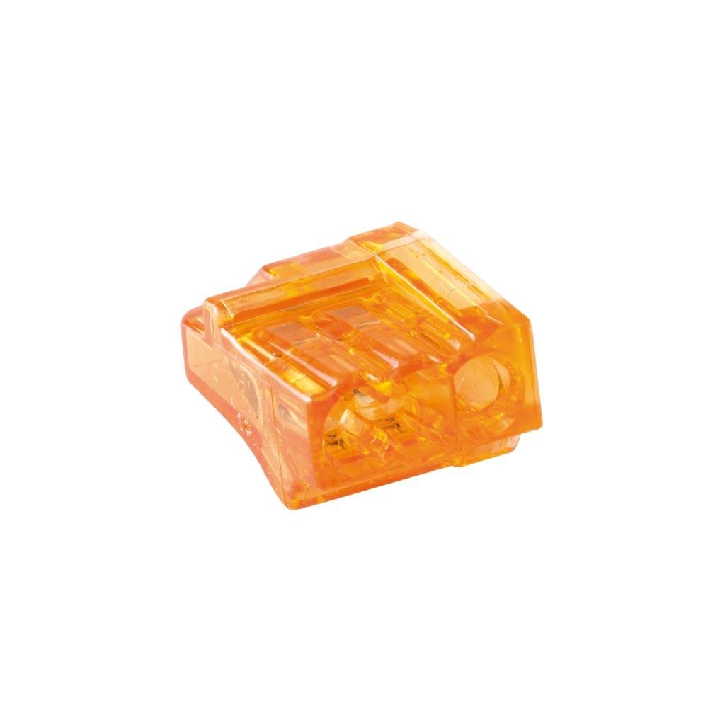 Bizline - BIZ720433 -  Borne de connexion CHRISTA'L 3 entrées orange (x 1000)