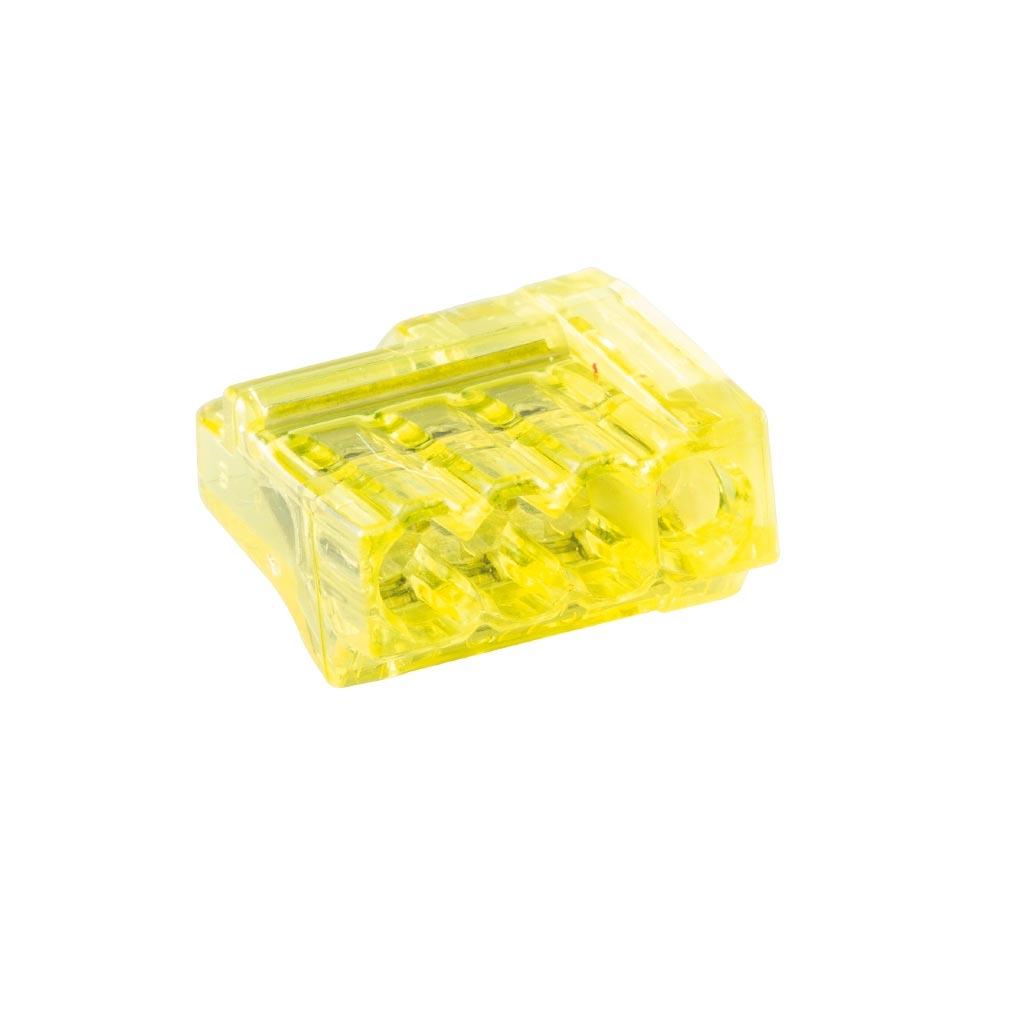 Bizline - BIZ720444 -  Borne de connexion CHRISTA'L 4 entrées jaune (x 1000)