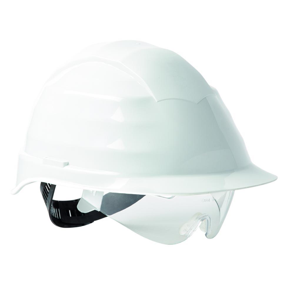 Bizline - BIZ730204 -  Casque d'électricien avec lunettes intégrées taille de 53-62 cm