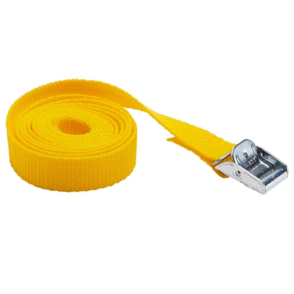 Bizline - BIZ730930 -  Sangle avec boucle de serrage 1.5 m x 25 mm jaune