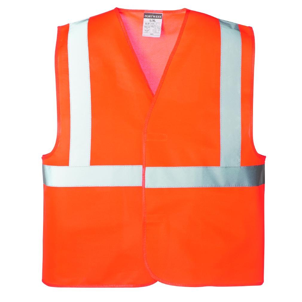 Bizline - BIZ731673 -  Gilet haute visibilité orange taille unique