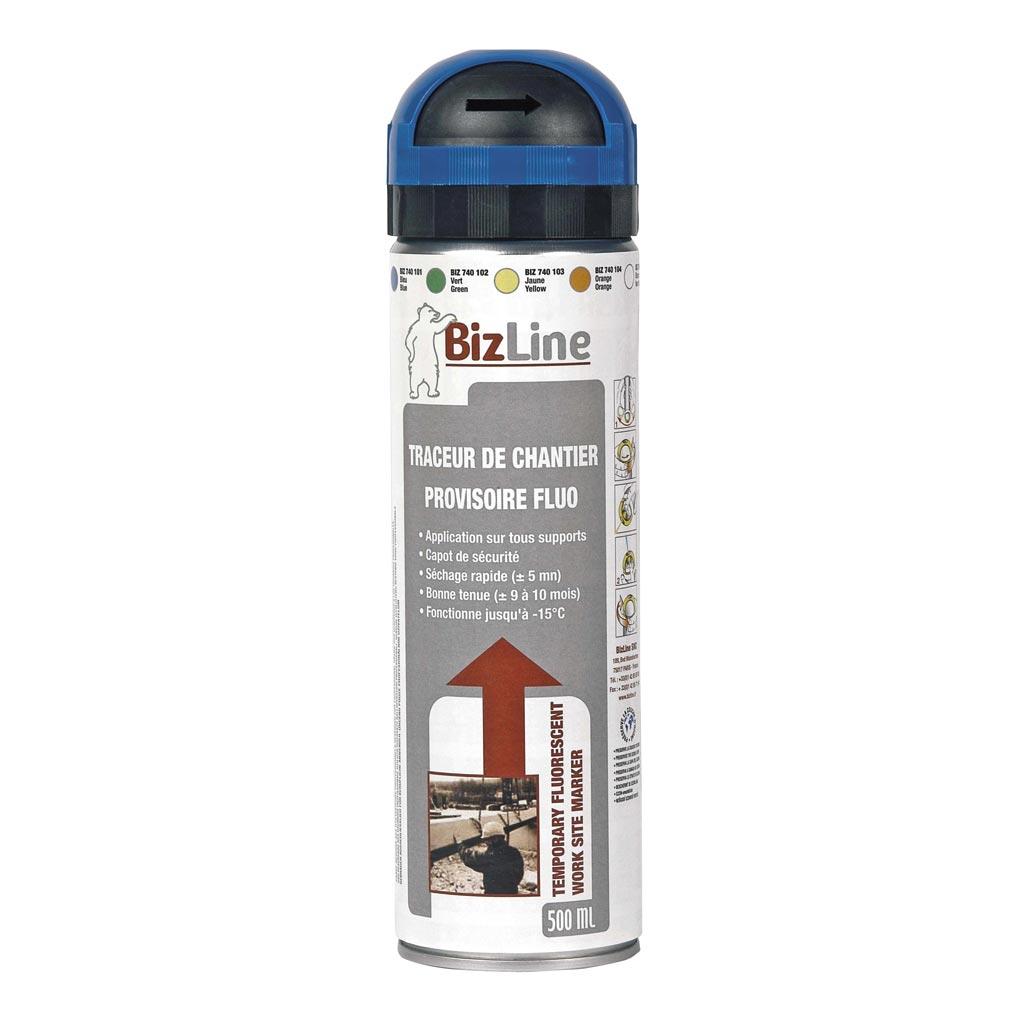 Bizline - BIZ740101 - TRACEUR DE CHANTIER 500 ML BLEU FLUO