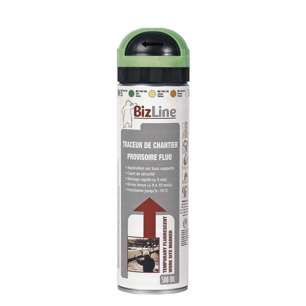 Bizline - BIZ740102 - TRACEUR DE CHANTIER 500 ML VERT FLUO