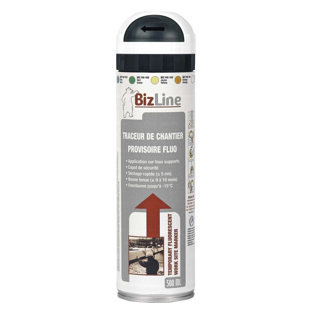 Bizline - BIZ740105 - TRACEUR DE CHANTIER 500 ML BLANC NON FLUO