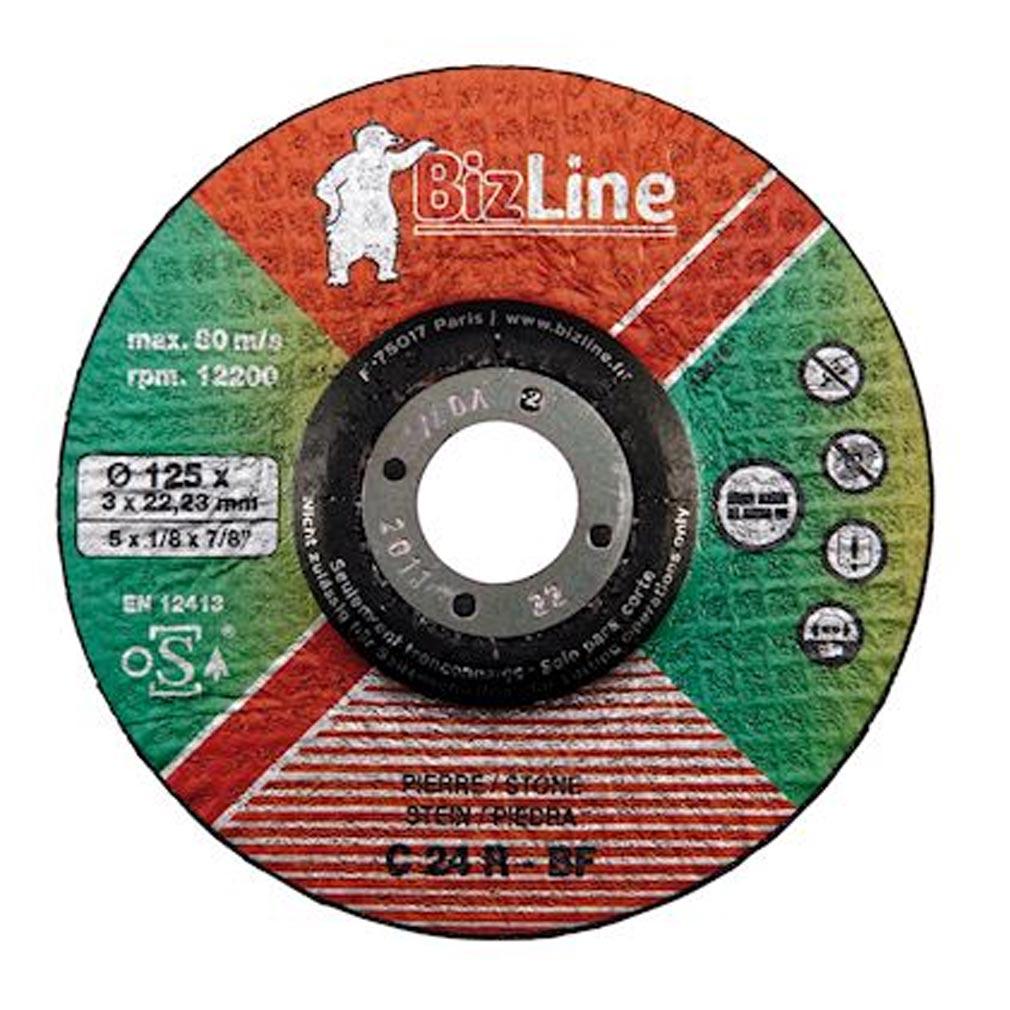 Bizline - BIZ781002 - BIZLINE 781002 - Disque à tronçonner pour pierre D= 125 mm (x 5)