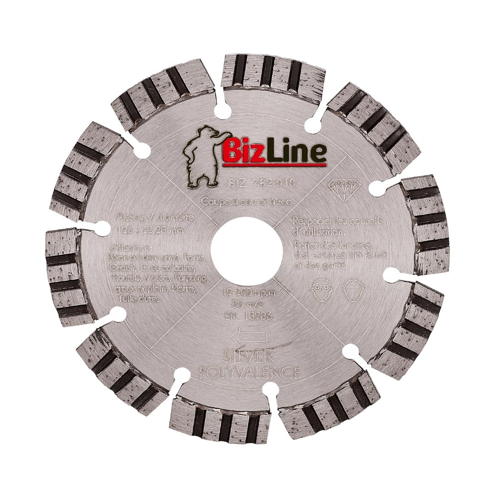 Bizline - BIZ782010 - BIZLINE 782010 - DISQUE DIAMANT SILVER D= 125 MM