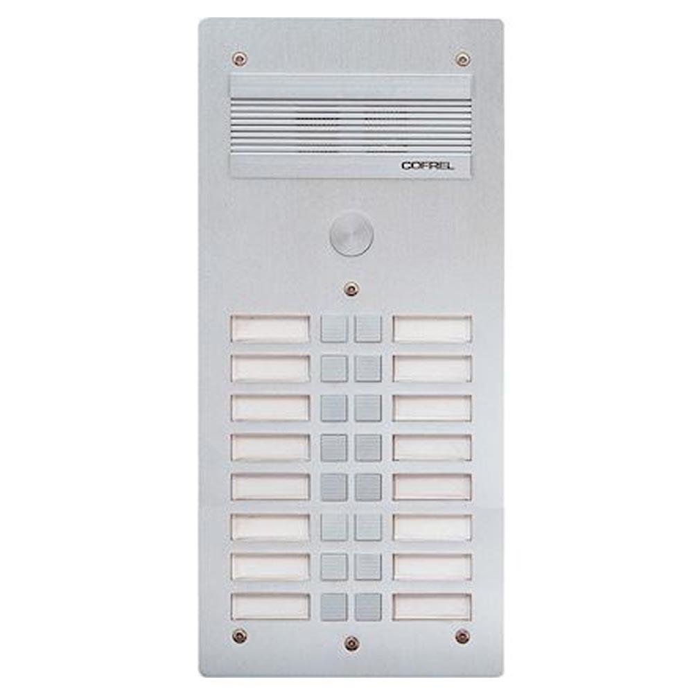 Bticino - TIC308316 - BTICINO 308316 - Platine de rue Série 300 audio - façade Alu 4mm - 16 appels