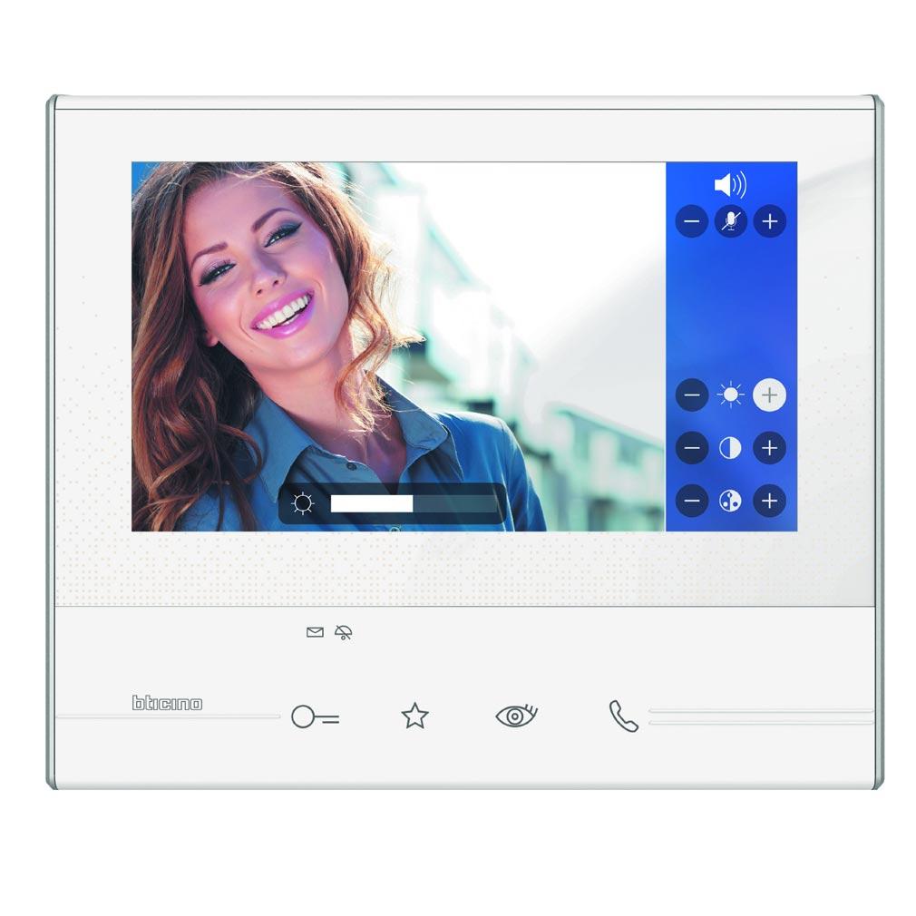 Bticino - TIC344612 -  Poste intérieur Classe 300 - Poste vidéo mains libres V13E - Blanc