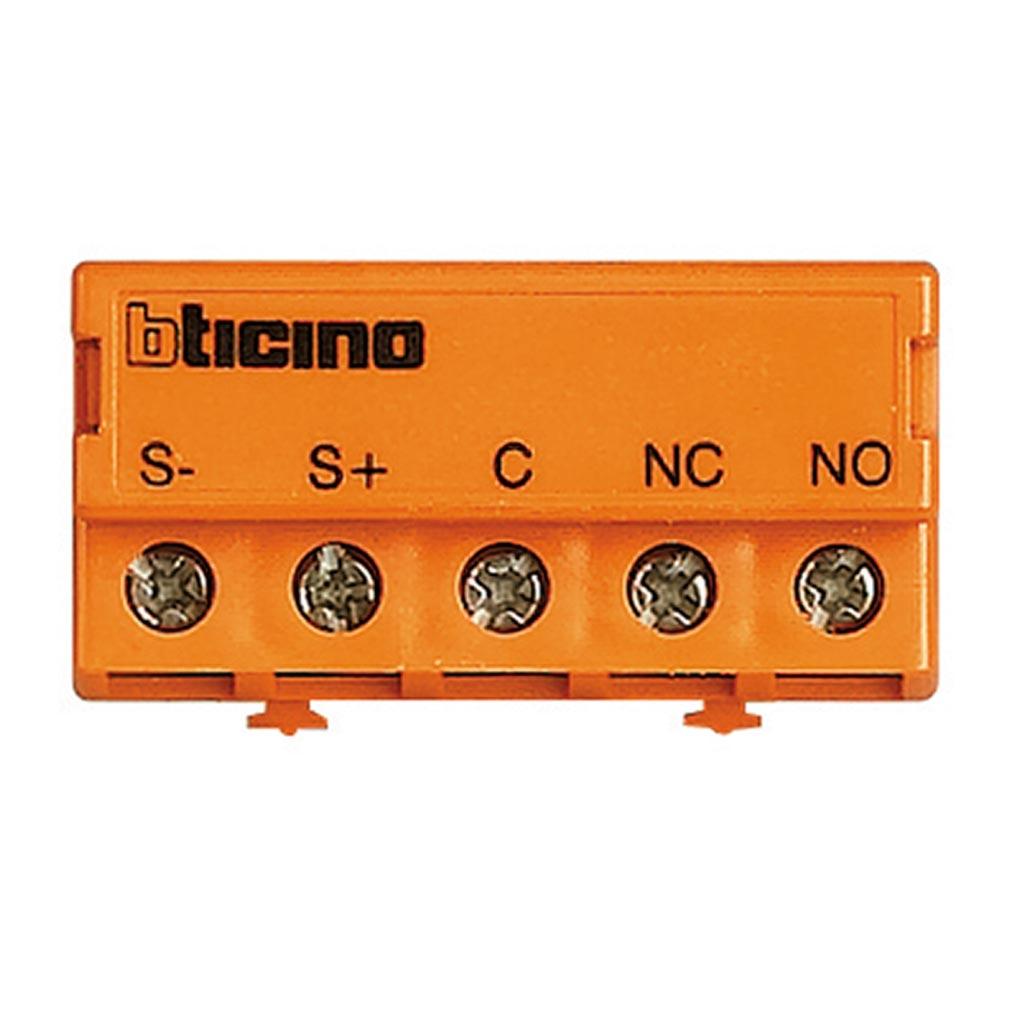 Bticino - TIC346250 - Relais contacts secs NO/NF pour portiers ou gâche à émission , à rupture ou ventouses BUS 2FILS