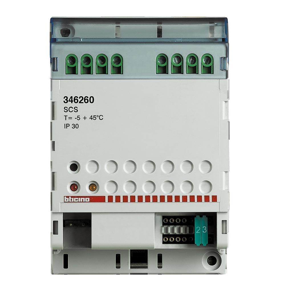 Bticino - TIC346260 - Relais BUS pour commande d'ouverture ou gâche 12V= pour automatismes LONGUE TEMPO