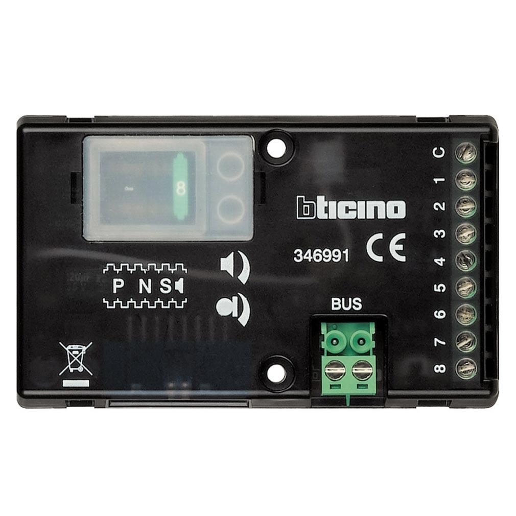 Bticino - TIC346991 - Micro haut-parleur universel 8 appels pour platines Série 100 , Série 200 ou Série 300 audio