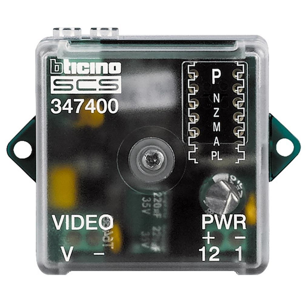 Bticino - TIC347400 -  Interface caméra coaxiale pour installation BUS 2 fils vidéo
