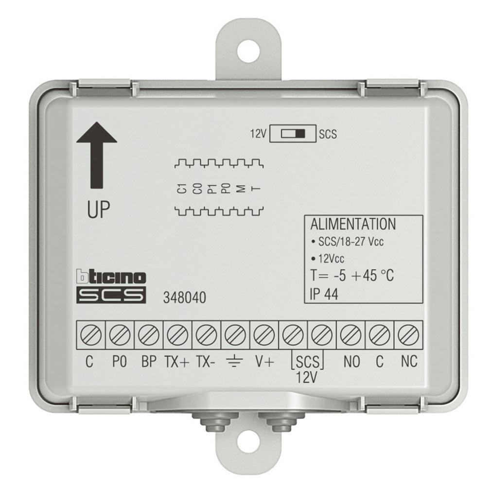 Bticino - TIC348040 -  Kit centrale de contrôle d'accès 1 porte Vigik