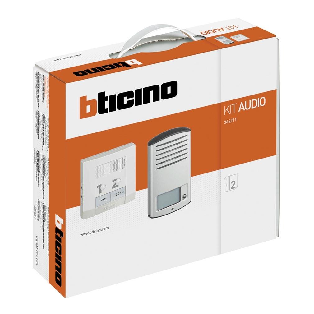 Bticino - TIC364211 - Kit portier résidentiel audio mains libres BUS 2 fils CK2 pose saillie