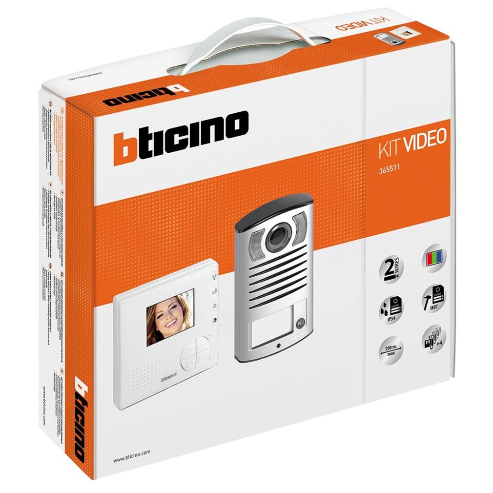 Bticino - TIC365511 -  Kit portier résidentiel vidéo couleur Classe 100V12B mains libres