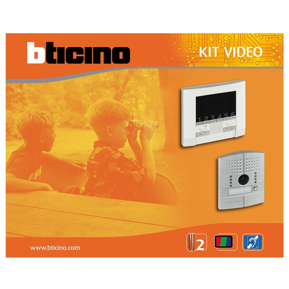 Bticino - TIC368611 -  Kit portier résidentiel vidéo couleur Classe 300E mains libres 1 appel