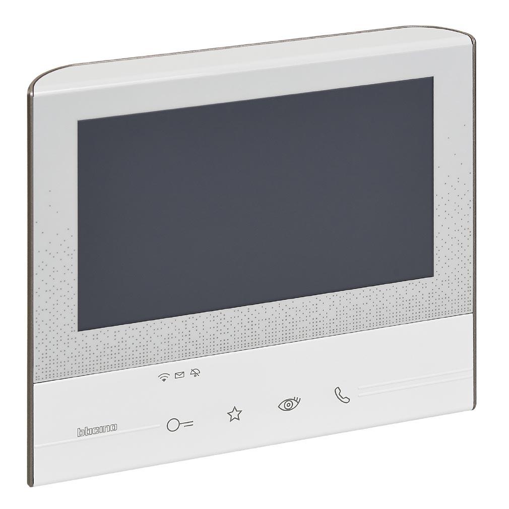 Bticino - TICBT344642 -  Poste intérieur Classe 300 poste vidéo mains libres X13E connecté - Blanc