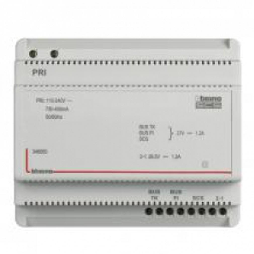 Bticino - TICBT346050 - Alimentation et adaptateur vidéo MyHOME BUS 110V à 240V 27V= 1,2A