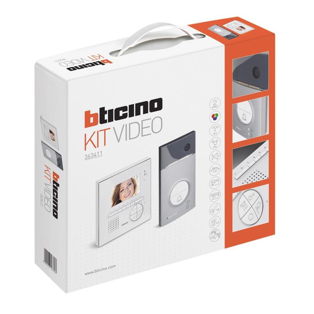 Bticino - TICBT363411 -  Kit portier résidentiel vidéo couleur Classe 100V12E mains libres