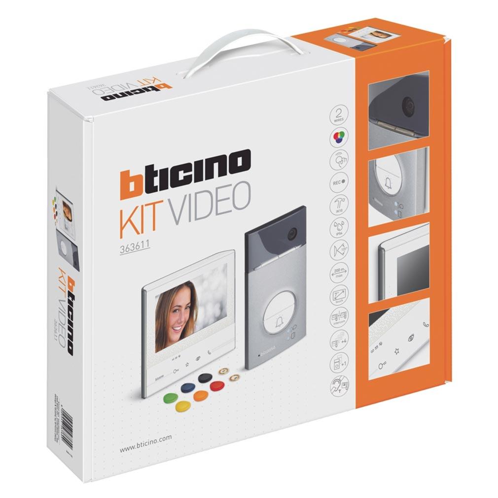 Bticino - TICBT363611 -  Kit portier résidentiel vidéo à mémoire d'image Classe 300 V13M mains libres