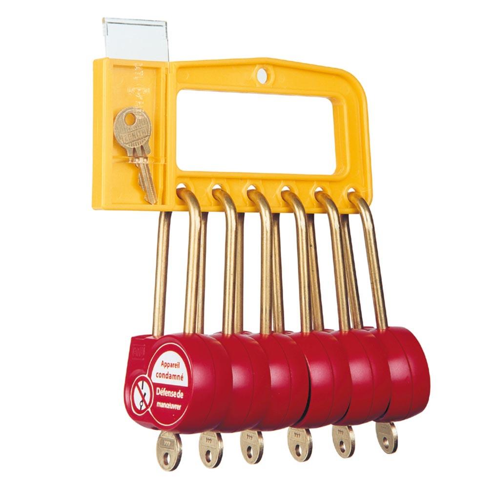 Catu - CATAL236111 -  Poignée 6 cadenas 50mm clé 111