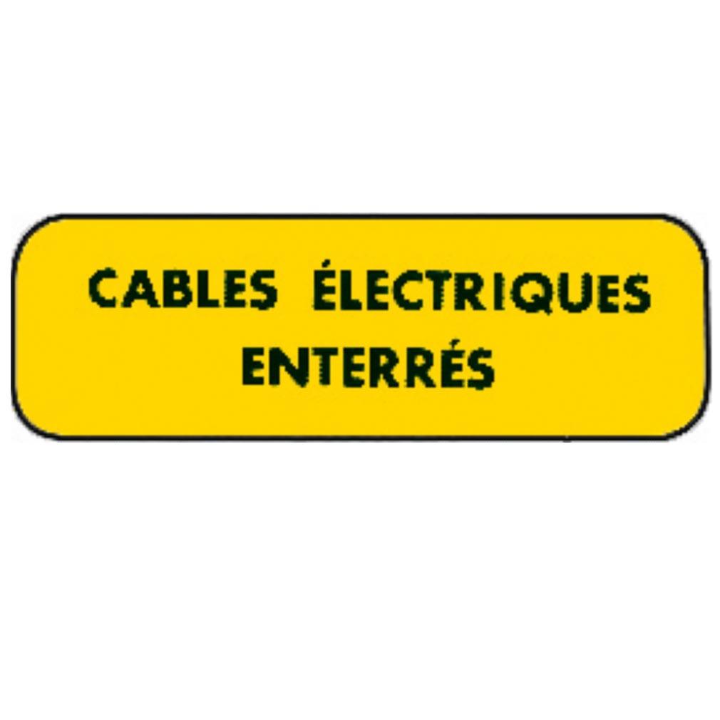 Catu - CATAM5662 - CATU AM5662 - PLAQUE ALU 'CABLES ELECTRIQUES ENTERRES'