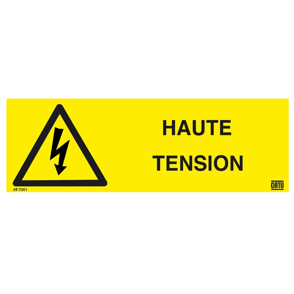 Catu - CATAT7001 - CATU AT-7001 - ETIQUETTE AUTOCOLLANTE HAUTE TENSION