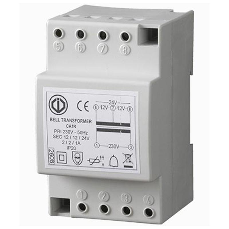Cdvi - CDAF0303000002 - CDVI CA1R - TRANSFORMATEUR RAIL DIN 12/24V1/2A - CLASSE II