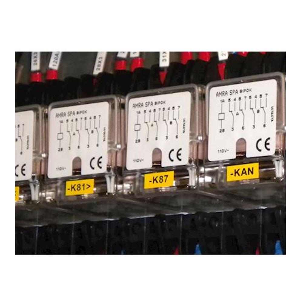 Cembre - CMB4113133 - ETIQUETTE ADHESIVE SOUPLE DE TYPE MG-VYT 8 X 17 MM BLANCHE