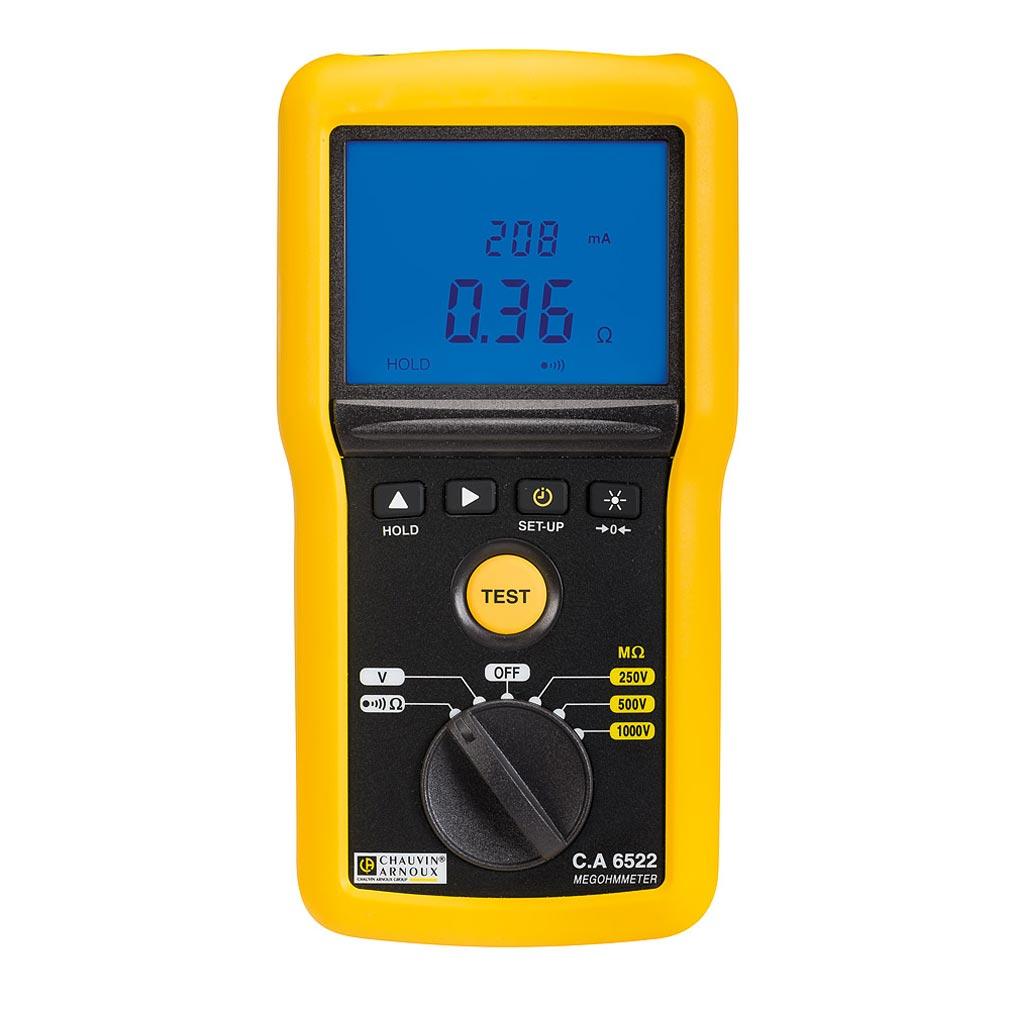 Chauvin a - CHXP01140822 - P01140822 - C.A 6522 MEGOHMMETRE 1KV - Contrôleur d'isolement et de Continuité, 250V-500V-1 kV