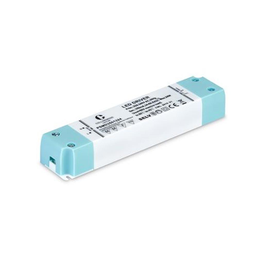 Collingwo - SLHPSMD3501324 - COLLINGWOOD PSMD3501324 -  Alimentation LED à courant constant 350mA, Dim TRIAC, IP20, 12 à 24W, 34 à 68V