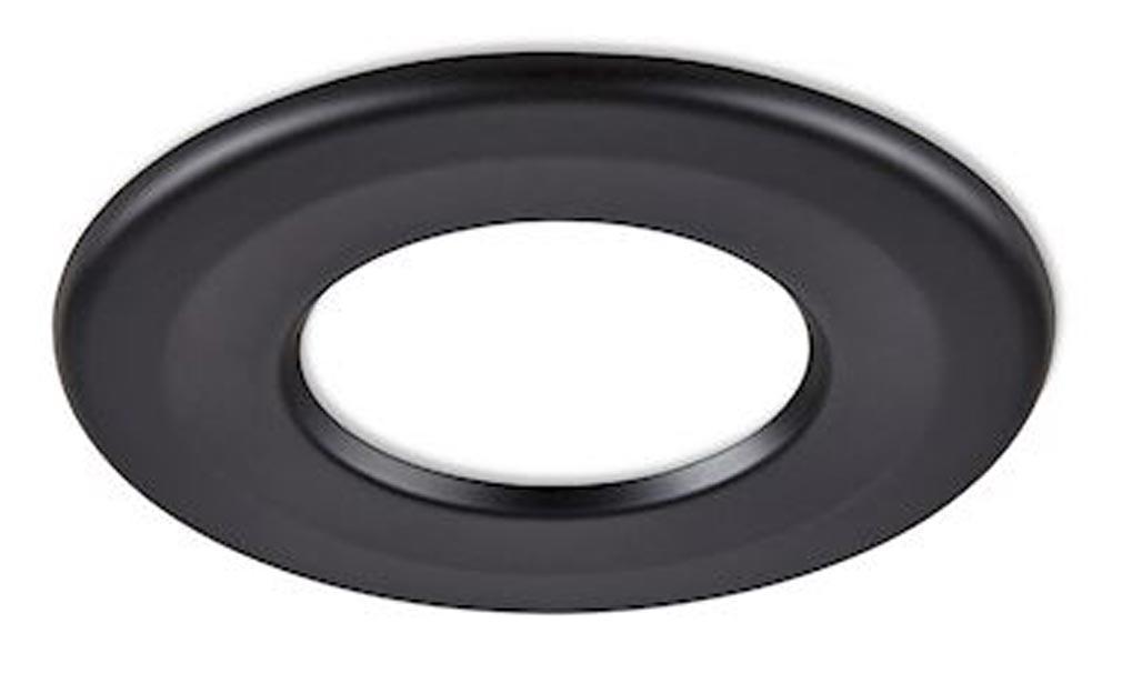 Collingwo - SLHRB359WH - COLLINGWOOD RB359WH - Collerette ronde noir mat pour les encastrés de plafond H2