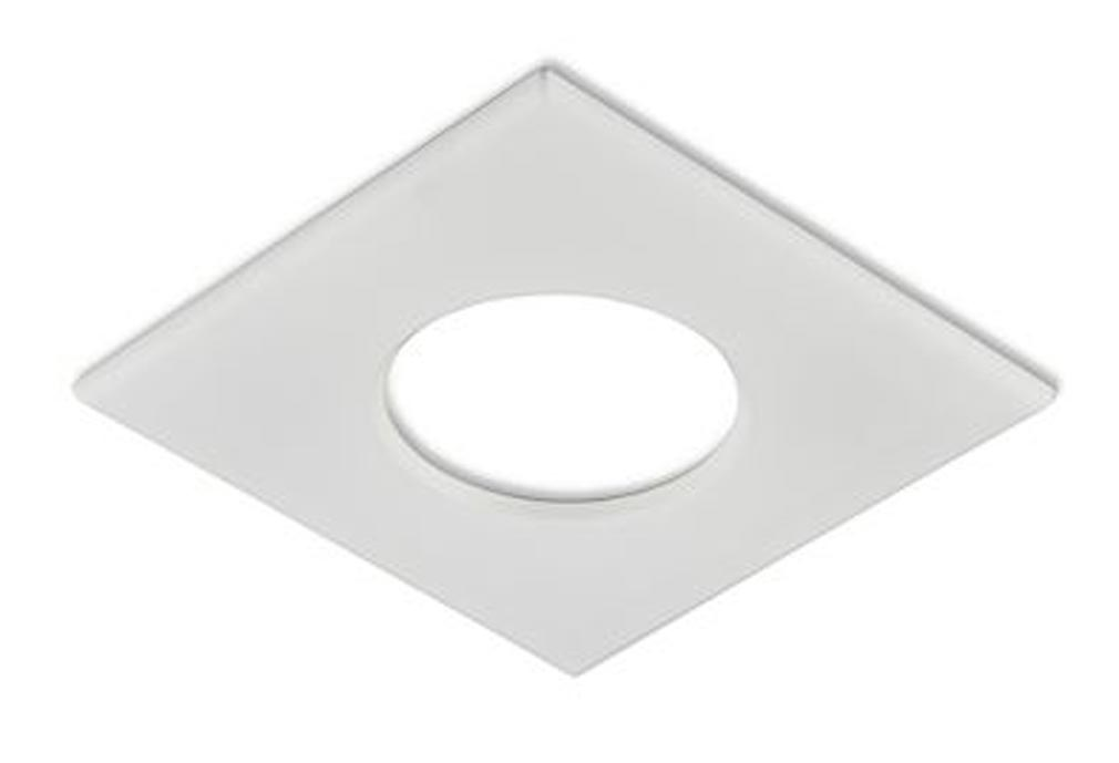 Collingwo - SLHSQB360MW - COLLINGWOOD SQB360MW - Collerette carrée blanc mat pour les encastrés de plafond LED H2 Pro