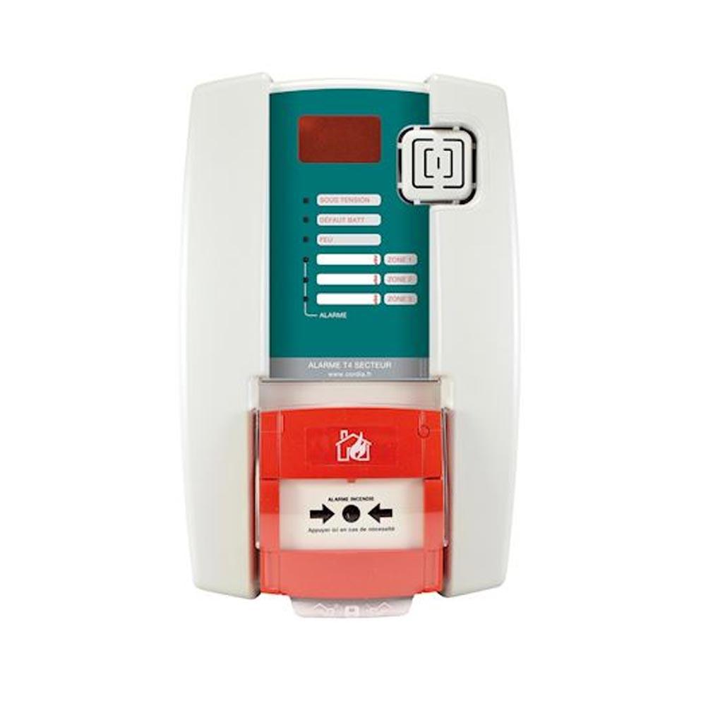 Cordia - KDAAATS4032 - CORDIA AATS4032 -  Alarme Type 4 secteur 3 boucles DM et sirène intégrée - Secours batteries
