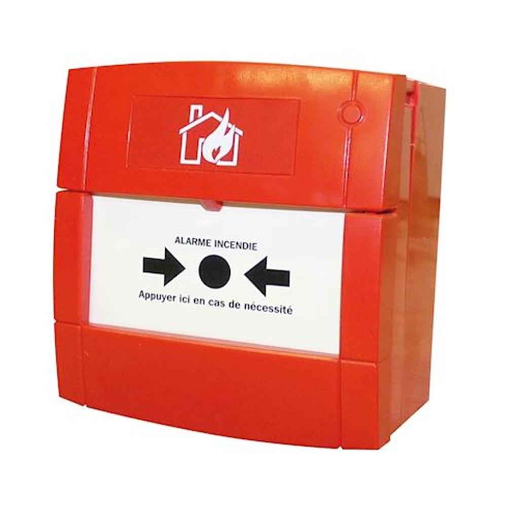Cordia - KDAADMR0001 - CORDIA ADMR0001 -  Déclencheur manuel rouge incendie filaire